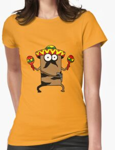 mexican cat Womens Fitted T-Shirt