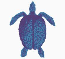 Psychedelic Turtle Brain Kids Tee