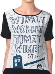 Wibbly Wobbly Timey Wimey Chiffon Top