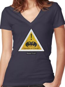 Repel First!! Women's Fitted V-Neck T-Shirt