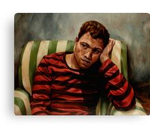 Evening Portrait of a Young Man Canvas Print