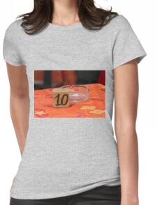 restaurant table Womens Fitted T-Shirt