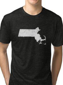 Marble Massachusetts Tri-blend T-Shirt