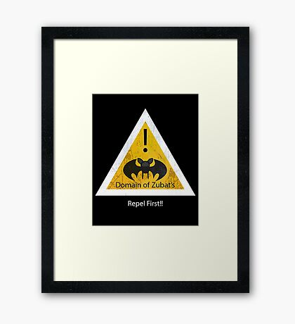Repel First!! Framed Print