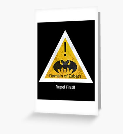 Repel First!! Greeting Card