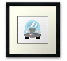 Cute Blue Car Framed Print