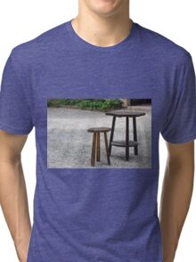 wooden table and stool Tri-blend T-Shirt