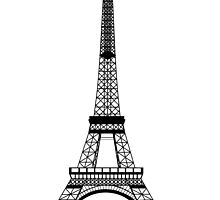 Black Eiffel Tower by BeachBumFamily