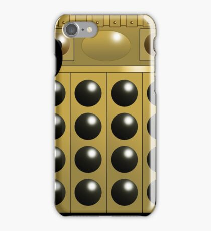 Gold Dalek Mug iPhone Case/Skin