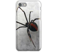 Redback on White iPhone Case/Skin