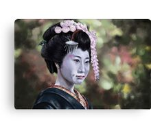geisha oil Canvas Print