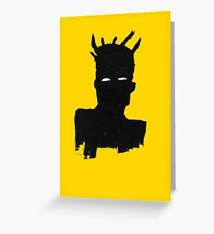 "Basquiat ""Self Portrait"" Greeting Card"