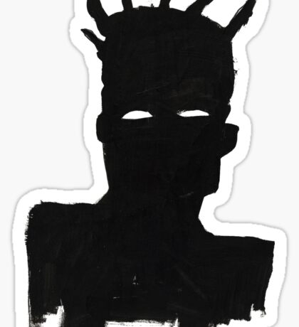 "Basquiat ""Self Portrait"" Sticker"