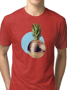 Ananas Party (pineapple) blue version Tri-blend T-Shirt