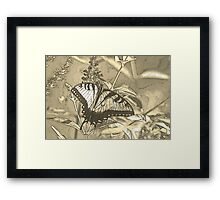 Morning Tiger Sumi-e Framed Print