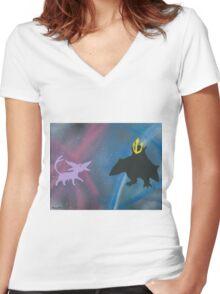Espeon VS Empoleon Women's Fitted V-Neck T-Shirt