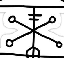 Stafurtiladvekjauppdraug - Icelandic Sigil To invoke ghosts and evil spirits Sticker