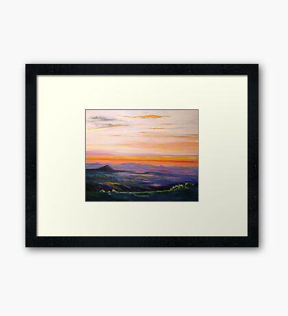 Tamborine Mountain Sunset Panorama Framed Print