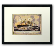 """A digital painting of The  """"SS Great Eastern"""" 1858 Framed Print"""