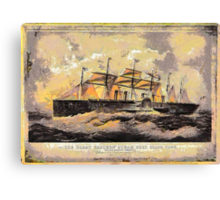 """A digital painting of The  """"SS Great Eastern"""" 1858 Canvas Print"""
