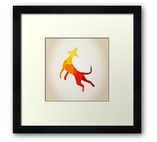 Abstract dog Framed Print
