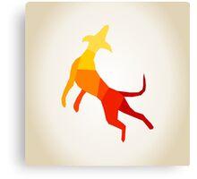 Abstract dog Canvas Print