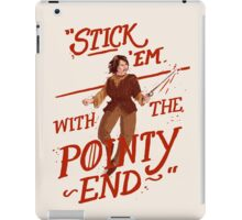 The pointy end iPad Case/Skin