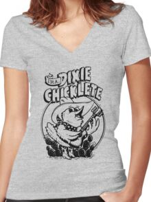 I'm a Dixie Chicklete Women's Fitted V-Neck T-Shirt