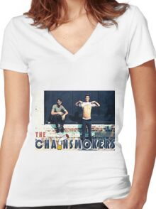 The ChainSmokers Women's Fitted V-Neck T-Shirt