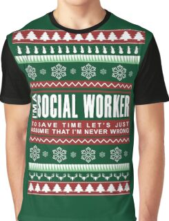 i am social worker christmas Graphic T-Shirt