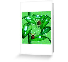 Playing in the Rain Greeting Card