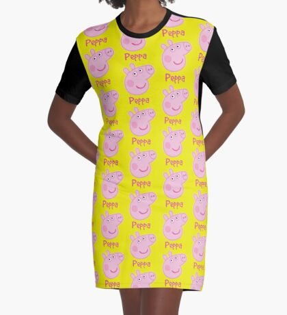 peppa Graphic T-Shirt Dress