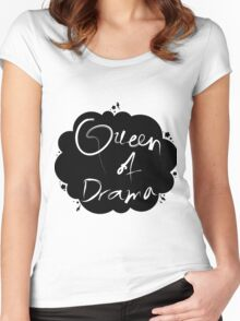 Queen of Drama Women's Fitted Scoop T-Shirt