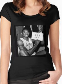 Kobe Bryant - 81 points Women's Fitted Scoop T-Shirt