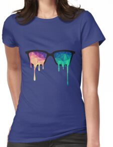 Psychedelic Nerd Glasses with Melting LSD Womens Fitted T-Shirt