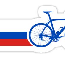 Bike Stripes Russia Sticker