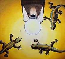Gecko Light by Laural Retz Studio