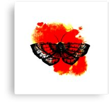 Butterfly in Red Canvas Print