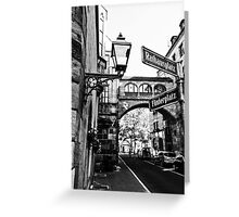 point of wiew of nuremberg Greeting Card