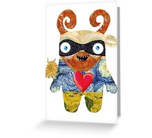 Van Gogh Monster Greeting Card