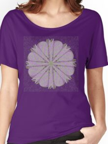Purple Spiral Blossom Women's Relaxed Fit T-Shirt