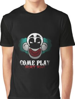 Come Play With Me Halloween Party Design Graphic T-Shirt