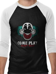 Come Play With Me Halloween Party Design Men's Baseball ¾ T-Shirt