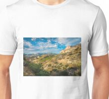Evening views from mountain trails Unisex T-Shirt