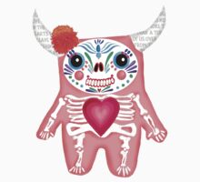 Pink Dia de los Muertos Monster  by alphabetty