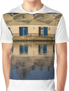 Reflections in the fishing port Graphic T-Shirt