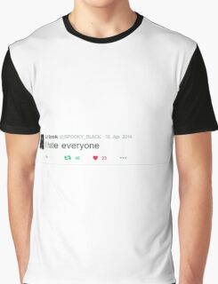 Spooky Black - I hate everyone Graphic T-Shirt