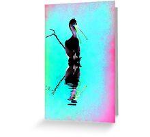 Neon Pelican Greeting Card