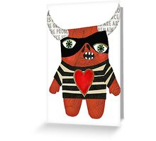 Picasso Monster Greeting Card