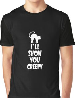 I'll Show You Creepy White Halloween Party Design Graphic T-Shirt